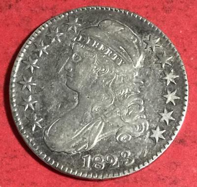 1823 US Capped Bust SILVER Half Dollar! Choice XF! Old US Coins!