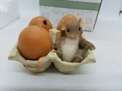 You're A Good Egg Charming Tails Fitz and Floyd Mouse EASTER in Original BOX!