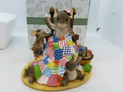 Happiness Is Homemade Charming Tails Fitz and Floyd Mouse in Original BOX! CUTE!