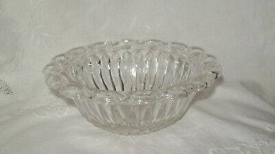 Reticulated Scallop Rim Stunning Class Bowl