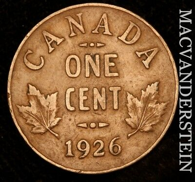 Canada: 1926 One Small Cent - Semi-Key!!  Better Date!!  #w8339