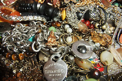 OVER 2kg OF Vintage & Costume Jewellery Bulk for Craft pendants,necklaces,beads