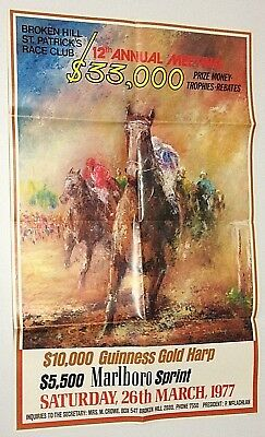 Rare 1977 Broken Hill St. Patrick's Race Club Meeting Poster