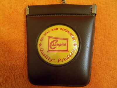 1960's CHAMPION SPARK PLUGS ADVERTISING KEY FOB / WALLET - NEVER USED