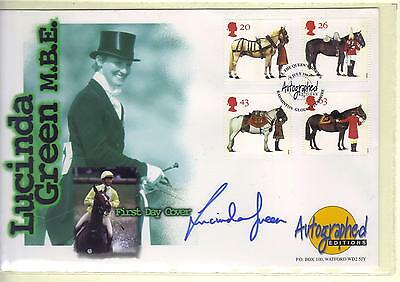 Lucinda Green Mbe.   Autographed Editions..spot On Autograph.