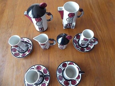 Lorna Bailey Charles Rennie Mackintosh Rose Coffee Set Limited Edition (42/250)