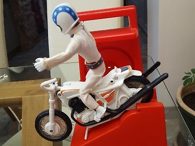 Evel Knievel 1972 With Stunt Cycle 4th Issue With Gyro Launcher Hollis Ideal