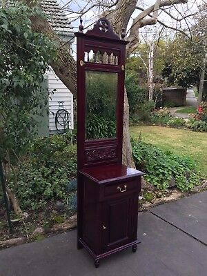 Antique Edwardian Style Mahogany Hall Stand!