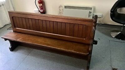 Antique pitch pine church/ convent pew with History