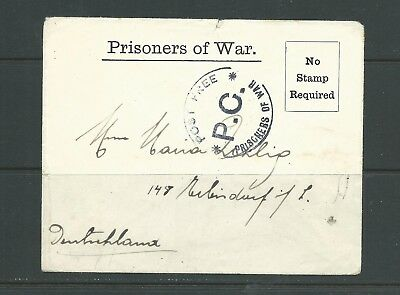 Isle of Man 1940s Prisoner of War cover in good condition.