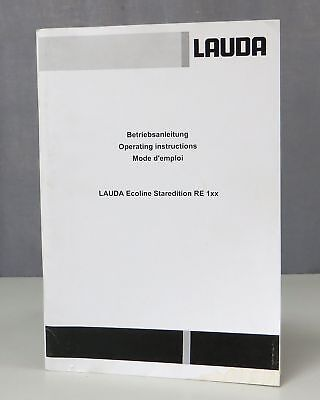 Lauda Ecoline Staredition RE 1XX 104-107/110/112/120 Operating Instructions 1108