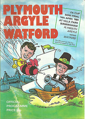 PLYMOUTH ARGYLE v WATFORD - SEMI-FINAL F.A.CUP - 14/04/1984.