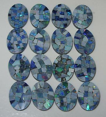 16x12mm Oval Natural Australia Opal Mosaic Doublet SPECIAL