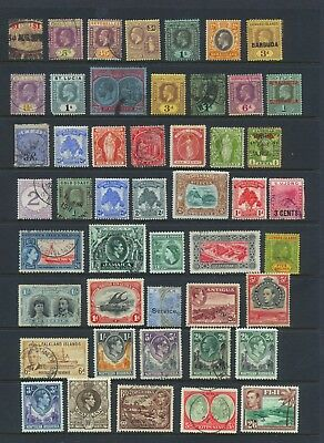 COMMONWEALTH , 48 x stamps mounted mint or fine used , good cat.