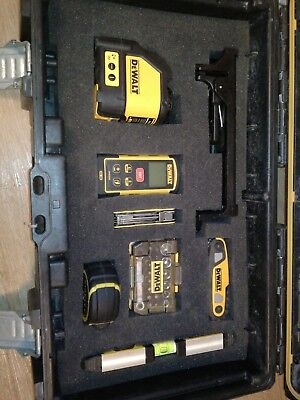 dewalt laser level dw088 + measure dw3050 + socket set + multi tool + Alan keys