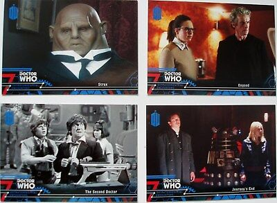 Topps Doctor Who Extraterrestrial Encounters 33 blue paralells numbered /99