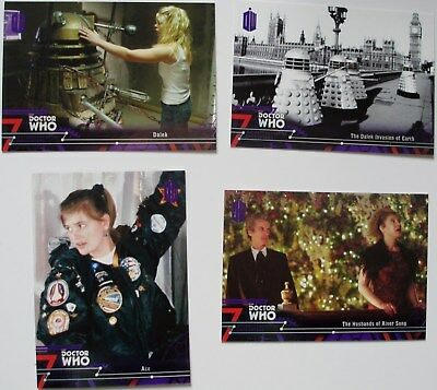 Topps Doctor Who Extraterrestrial Encounters 17 purple paralells numbered /50