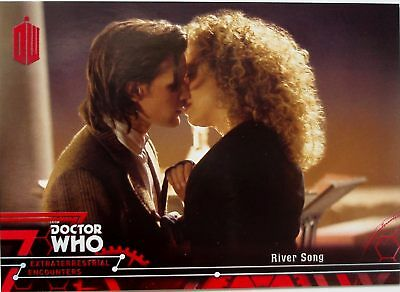 Topps Doctor Who Extraterrestrial Encounters red paralell card 26 stamped 22/25