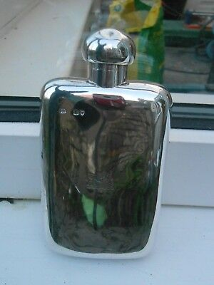 Solid Silver Rare Stunning Solid Silver Heavy Flask Wow