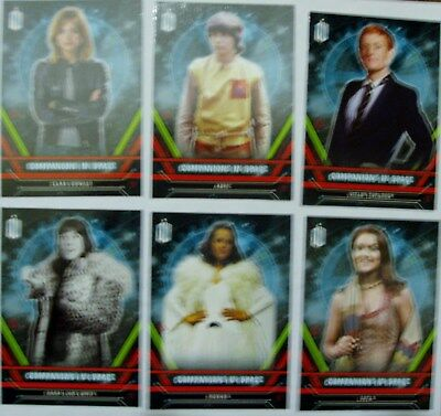 Topps Doctor Who Extraterrestrial Encounters Comanions in Space set