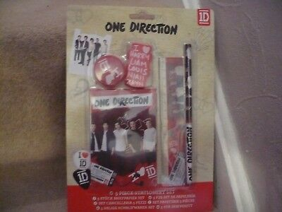One Direction Stationery Set A Five Piece Set Unopened In Original Packaging