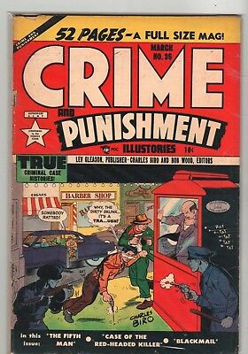 Crime And Punishment  #  36   1951   Golden Age Comic