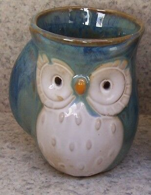 Coffee Mug Hand Warmer Owl right NEW 15 ounce cup with gift box
