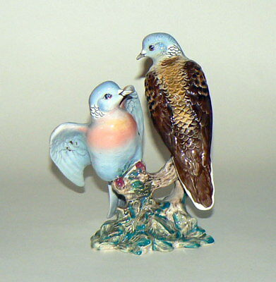 SUPERB BESWICK PAIR OF TURTLE DOVES- MODEL No 1022- GLOSS