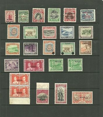 Nigeria Gb Colony Ovprts, Surcharges&pre Decimal Collection Old Album Mint Lh/vf