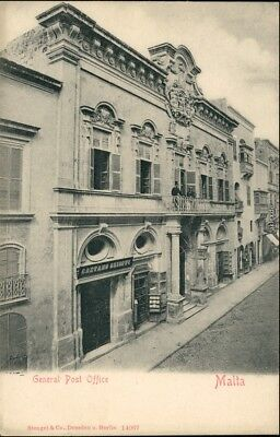 Postcard Malta Straßenpartie - General Post Office 1906