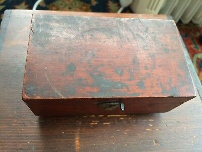 Nice Antique Georgian Brass Weights In Mahogany Case