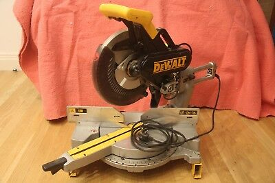 Dewalt DW708 chop sliding mitre saw 230v with  Mounting Brackets