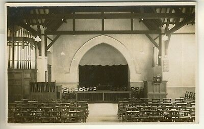 An Early Real Photo Post Card of an Unidentified Reading Church. Organ to left