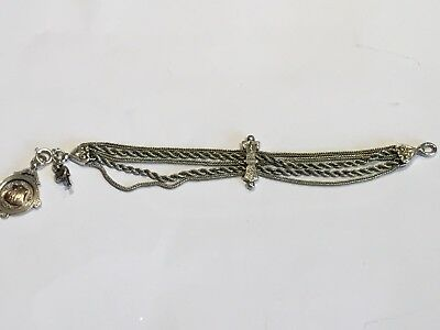 Antique Victorian Silver Albertina Pocket Watch Chain