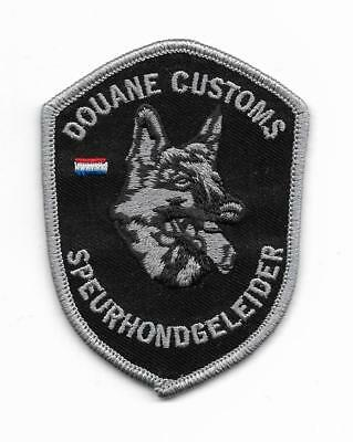 ZOLL Abzeichen HOLLAND K-9 DHF Patch CUSTOMS Aduanas Douanes Police Polizei