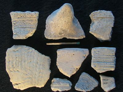 Superb: Collection Of Wonderful Decorated Sherds Neolithic Stone Age C Europe