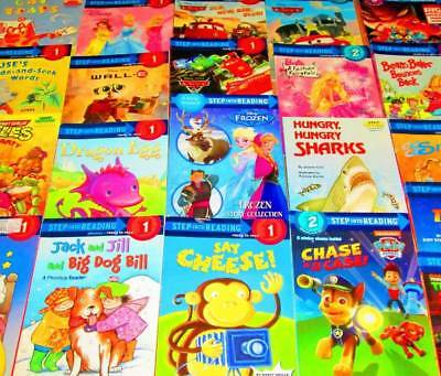 Step Into Reading LEVELED READERS Lot of 61-Teacher/Homeschool-Early, 1,2,3 & 4