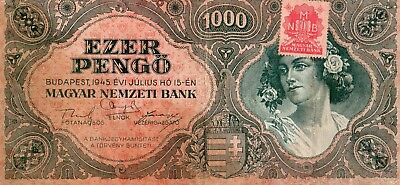 Hungary 1945 1000 Pengo Currency