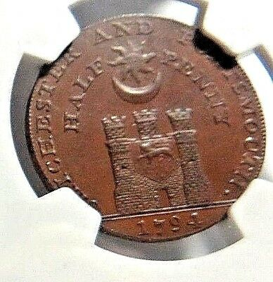 1794 -  SUSSEX - CHICHESTER  CONDER TOKEN  DH-20  1/2P  NGV  AU-58  NO Reserve