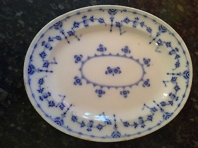 ANTIQUE MINTON ENGLISH DELPH TURKEY,SERVING PLATTER 33cm X 26cm