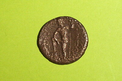 RARE Ancient GREEK COIN poseidon THEBES BOEOTIA 221 BC foot on rock Persephone