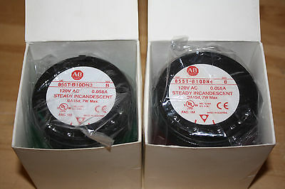 Allen-Bradley Steady Stack Incandescent Green 855T-B10DN3 and Red 855T-B10DN4