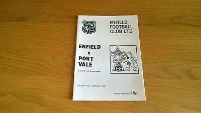 1980-81 Enfield v Port Vale - FA Cup