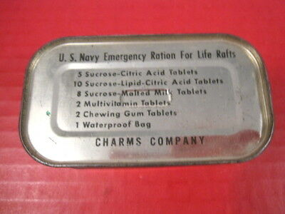 post-WWII Era US Navy USN Emergency Survival Ration for Life Raft or Boat - XLNT