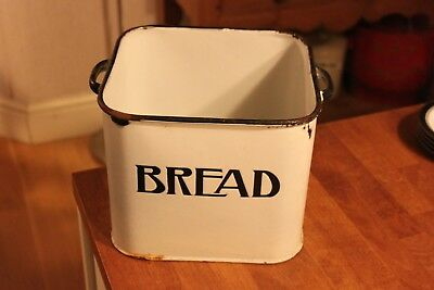 Vintage Prince of Wares Ex.Small White Enamel Bread Bin – Cute Size – No Lid! –