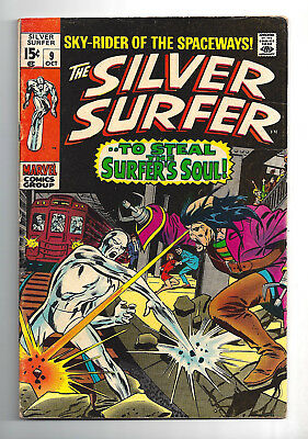 Silver Surfer #9  Very Good Fine 5.0!  1970