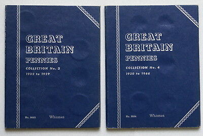 Great Britain Pennies Folders (2) No.3 & No.4, UK One Penny, NEW Whitman, Scarce