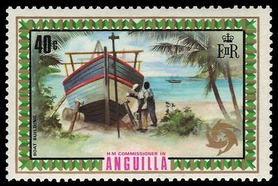 "ANGUILLA 155 (SG140) - Tourism ""Boat Building"" (pa5878)"