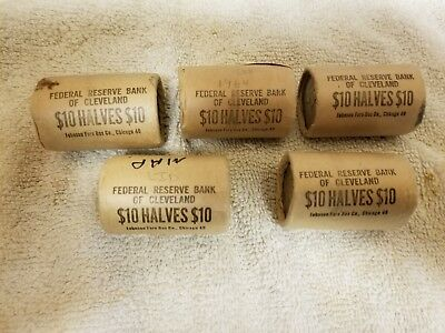 1964 P Silver Kennedy Half Dollars Cleveland Federal Reserve Unopened Bu Roll