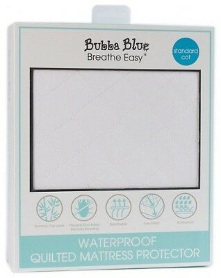 Bubba Blue Breathe Easy®  Waterproof Quilted Mattress Protector - Standard Cot